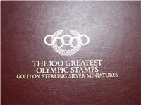 The 100 Greatest Olympic Stamps Gold on Sterling Miniatures  (Franklin Mint, 1984)