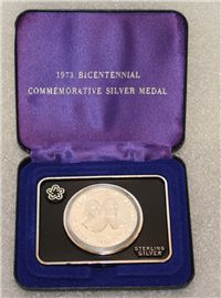 Adams & Henry Bicentennial Commemorative .925 Silver Medal 31g (US Mint, 1973)