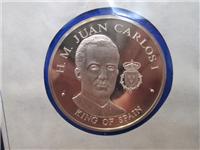 Official Bicentennial Visit Medal Honoring H. M. Juan Carlosi, King of Spain (Franklin Mint, 1976)
