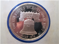 Official Bicentennial Visit Medal Honoring H. M. Queen Elizabeth II, Queen of Great Britain and Northern Ireland (Franklin Mint, 1976)