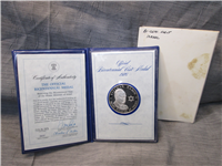 Official Bicentennial Visit Medal Honoring Yitzak Rabin, Prime Minister of Israel (Franklin Mint, 1976)