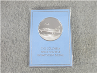 The Columbia Space Shuttle Eyewitness Commemorative Medal   (Franklin Mint, 1981)