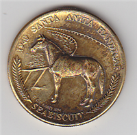 Santa Anita Park 40th Anniversary Commemorative Silver Medal  (Kinsey Mint, 1974)