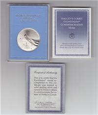Franklin Mint  Halley's Comet Eyewitness Medal (Sterling)