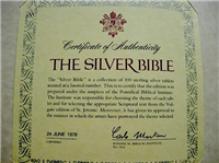 Franklin Mint  The Silver Bible Biblical Tablets Ingots