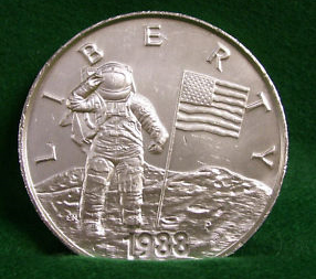 Usa 1988 P Young Astronauts Liberty Commemorative Silver