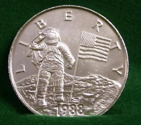 Usa 1988 P Young Astronauts Liberty Commemorative Silver