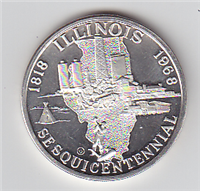 Illinois Sesquicentennial 1818-1968 Commemorative Medal