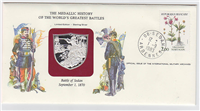 Franklin Mint  Medallic History of the World's Greatest Battles Commemorative First Day Cover Set