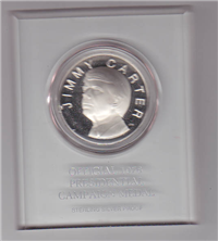 Franklin Mint  The Official 1976 Jimmy Carter Presidential Campaign Medal (Sterling)