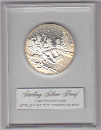 Franklin Mint Christmas Holiday Medals