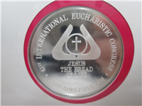 Official 41st International Eucharistic Congress Silver Medal (Franklin Mint, 1976)