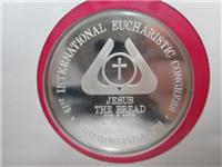 Official 41st International Eucharistic Congress Silver Medal (Franklin Mint, 1976)