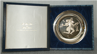 "Franklin Mint Limited Edition Plate: Signs of the Zodiac by Gilroy Roberts, ""Libra"""