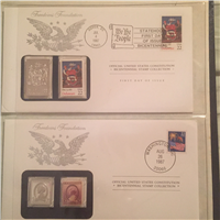 Franklin Mint The Official United States Constitution Bicentennial Stamp Collection From The Freedoms Foundation