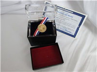 Official Bicentennial 14 KT Gold Medal (Danbury Mint, 1976)