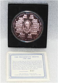 The Presidents' Medal 1789-1989 Silver Proof    (Federal Coin Fund, 1989)