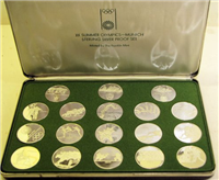 Official Commemorative Medals of the 1972 XX Summer Olympics Munich Silver Proof Set (Franklin Mint)