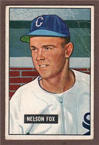 1951 Bowman Baseball Card #232 Nellie Fox