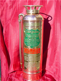 Antique Copper Fire Extinguisher