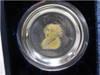 White House Historical John Adams Presidential Sterling Silver Plate  (Franklin Mint, 1972)