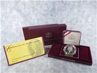 Thomas Jefferson 250th Anniversary Silver Dollar Proof in Box with COA  (U.S. Mint, 1993-S)