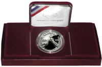 USA  1988-D Olympics Uncirculated Silver $1 Dollar Coin   (US Mint, 1988)