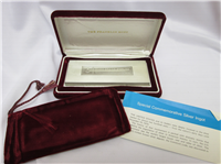 Historic Last U.S. Treasury Silver Commemorative 10000 Grains Ingot  (Franklin Mint, 1970)