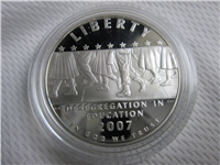 Little Rock Central High School Desegregation Silver Dollar Proof with Box and COA (US Mint, 2007)