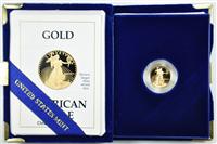 USA 1989-P  United States Mint  1/10th Ounce $5 Gold American Eagle Proof Philadelphia Mint