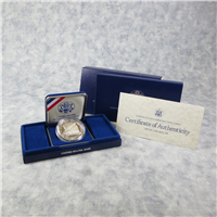Constitution Silver Dollar Proof in Box with COA   (US Mint, 1987-S)