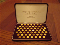 The Official Signers of the Declaration of Independence 24 KT Gold Mini-Coin Collection    (Franklin Mint, 1976)