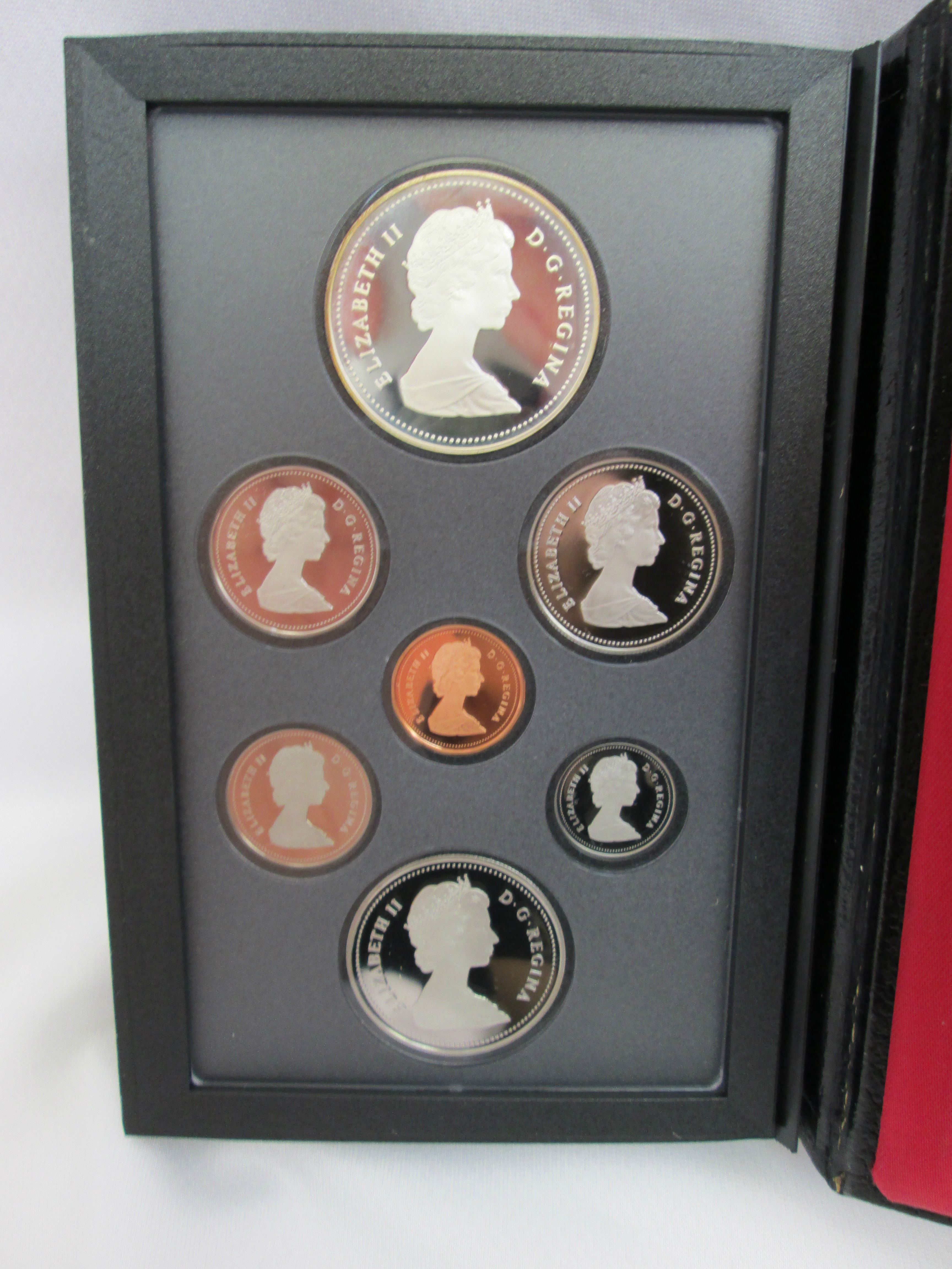 7 Coin Proof Set Royal Canadian Mint 1987 Current