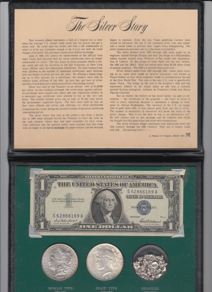The silver story silver dollars silver granules and silver the silver story silver dollars silver granules and silver certificate collection xflitez Gallery