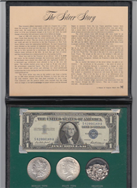 The Silver Story --- Silver Dollars, Silver Granules and Silver Certificate Collection   (Treasure Album Dist.)