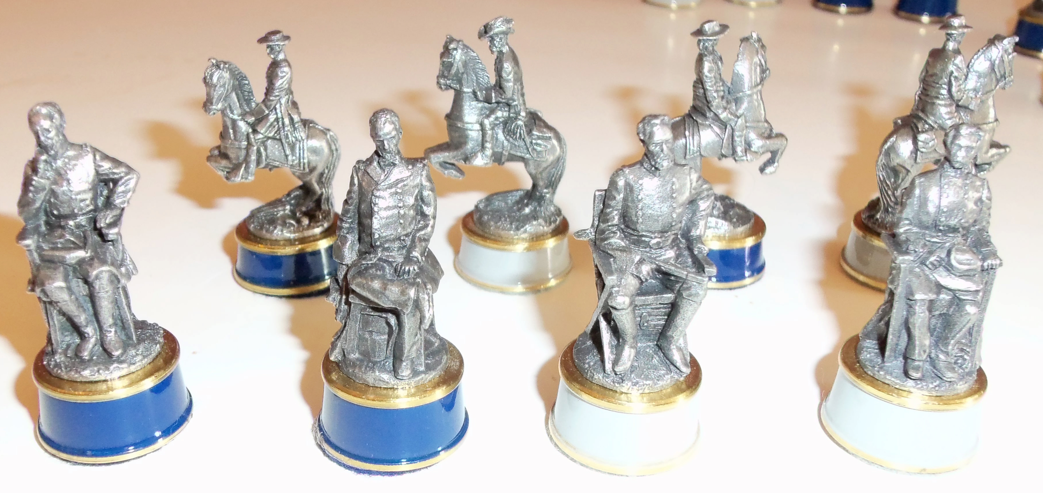 Galerry brass and pewter chess set