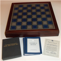 Franklin Mint  1983 National Historical Society's Civil War Chess Set