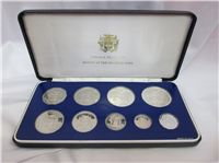 JAMAICA 1981 9 Coins Silver Proof Set  KM PS19