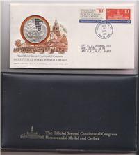 The Official Second Continental Congress Bicentennial Commemorative Medal and Cachet  (Franklin Mint, 1975)