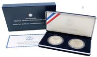 USA 2001 American Buffalo Two Coin Silver Dollar Commemorative Coins US Mint Set w/ Box & COA