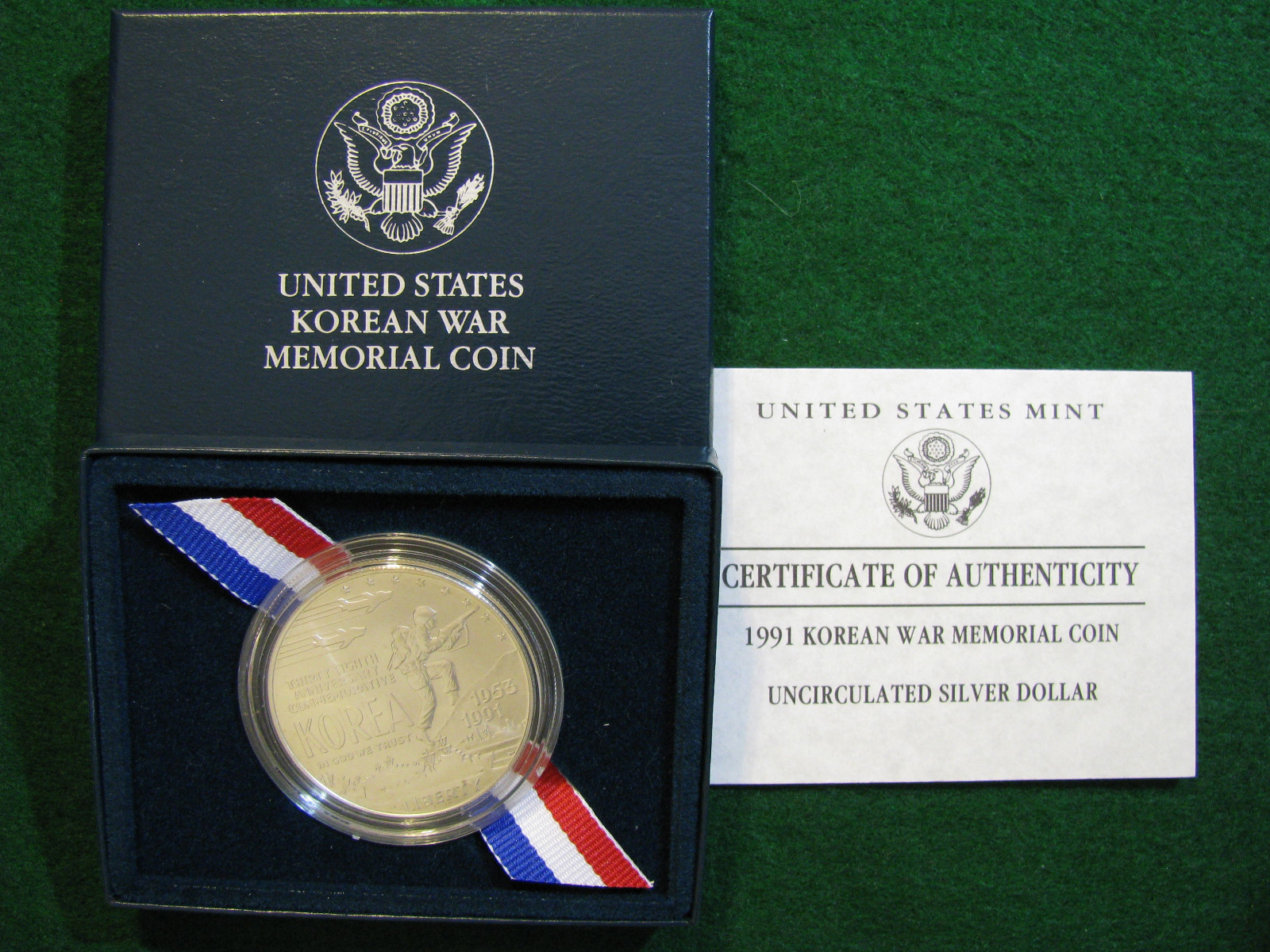 Value Of Usa 1991 D Korean War Memorial Uncirculated