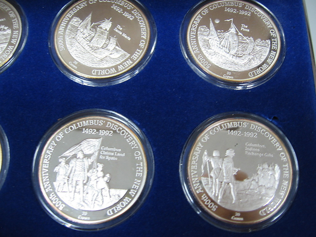 Danbury mint christopher columbus 500th anniversary medals for The danbury