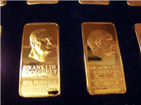 Danbury Mint Presidential Bronze Ingots Collection, One Ounce Bronze Bar edition