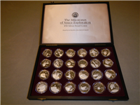 The Milestones of Space Exploration $50 Silver Proof Coin Collection  (Marshall Islands, 1989)