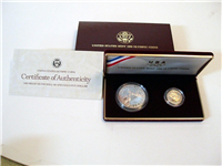 1988 US MINT Olympic Coins $5 Gold and $1 Silver Proof Set