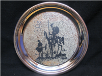 Modern Masters Series Picasso Don Quixote de la Manchu Limited Edition Sterling Silver Plate  (Geo. Washington Mint, 1972)