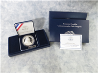 USA 2006-P Benjamin Franklin 'Founding Father' Silver Dollar Proof with Box and COA