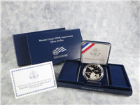Marine Corps 230th Anniversary Silver Dollar Proof + Box & COA (US Mint, 2005P)