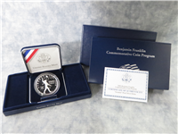 USA 2006-P Benjamin Franklin 'Scientist' Silver Dollar Proof with Box and COA
