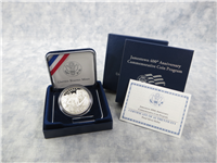 Jamestown 400th Anniversary Silver Dollar Proof with Box and COA (US Mint, 2007)